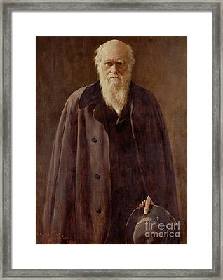 Portrait Of Charles Darwin Framed Print by John Collier