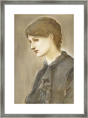 Portrait Of Mrs William J Stillman Nee Marie Spartali Framed Print by Sir Edward Coley Burne Jones