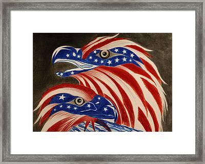 Proud Of Eagle Framed Print by Jalal Gilani