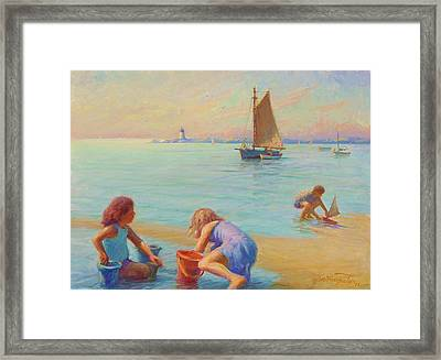 Provincetown Harbor Morning Framed Print by Ernest Principato
