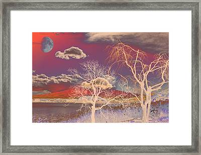 Psychedelic Landscape Framed Print by Anthony Caruso
