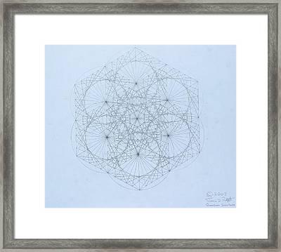 Quantum Snowflake Framed Print by Jason Padgett