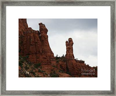 Red Rocks Near Chapel Of The Holy Cross Framed Print by Beverly Guilliams