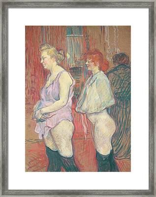 Rue Des Moulins Framed Print by Henri de Toulouse-Lautrec