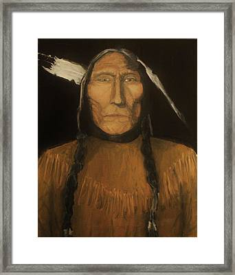 Wolfs Robe 1909 Original Sold Framed Print by Larry E Lamb