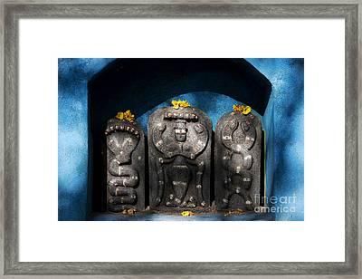Rural Indian Hindu Shrine  Framed Print by Tim Gainey