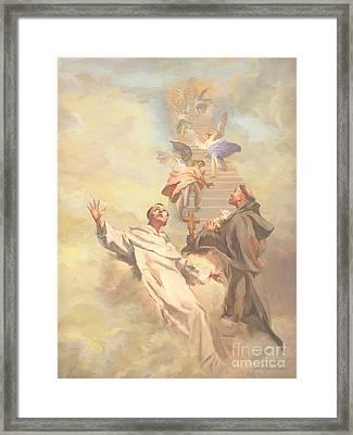 Saint Benedict And Saint Francis Of Assisi Framed Print by John Alan  Warford