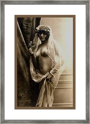 Sexy Nude Sepia Tone Framed Print by Studio Artist