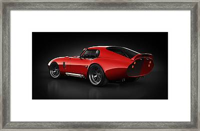 Shelby Daytona - Red Streak Framed Print by Marc Orphanos