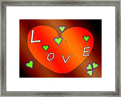 Simple  Love  Heart  - 505  Framed Print by Irmgard Schoendorf Welch