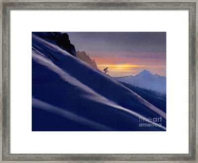 Ski Slopes Framed Print by Robert Foster