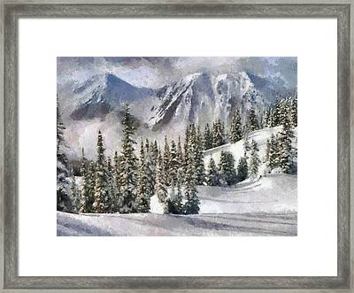 Snow In The Mountains Framed Print by Georgi Dimitrov