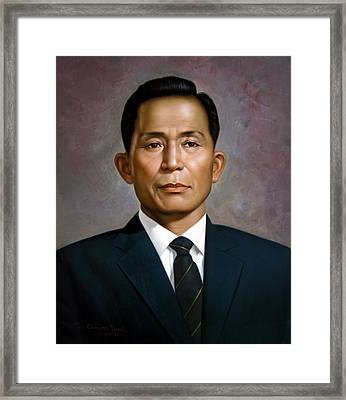 South Korea's President Park Chung-hee Framed Print by Yoo Choong Yeul