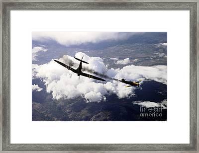 Spitfire Kill Framed Print by J Biggadike