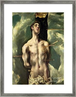 St Sebastian Framed Print by El Greco Domenico Theotocopuli