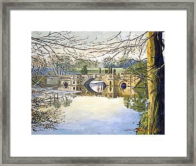 Stone Bridge Framed Print by David Lloyd Glover