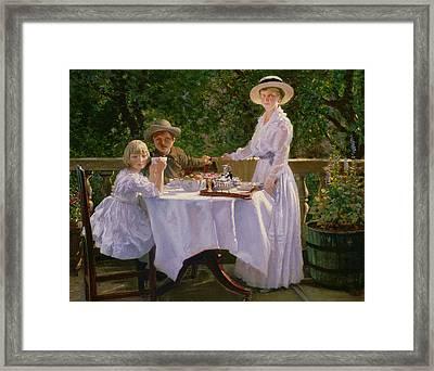 Summer Afternoon Tea Framed Print by Thomas Barrett
