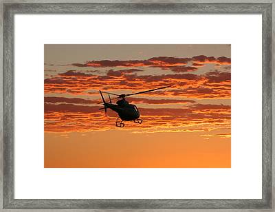 Sunset Clouds Framed Print by Paul Job