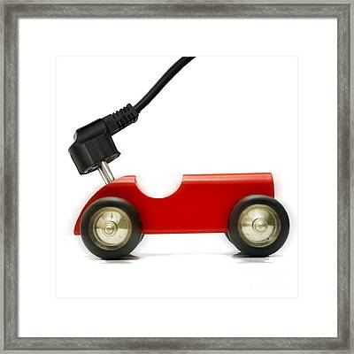 Symbolic Image Electric Car Framed Print by Bernard Jaubert