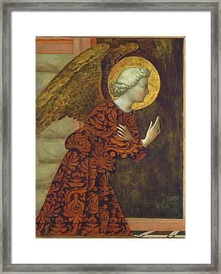 The Archangel Gabriel Framed Print by Tommaso Masolino da Panicale