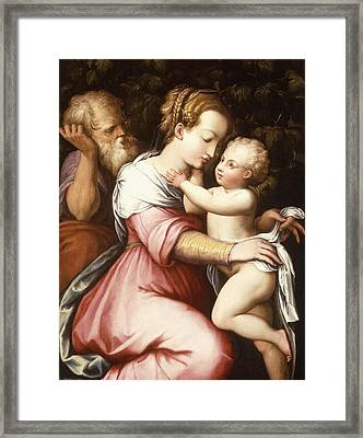 The Holy Family Framed Print by Giorgio Vasari