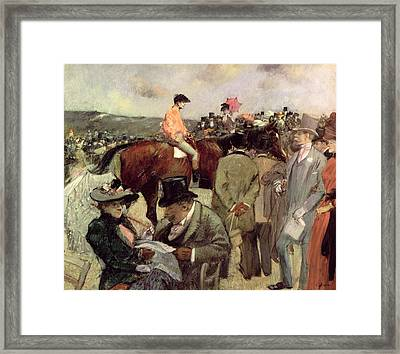 The Horse Race Framed Print by Jean Louis Forain