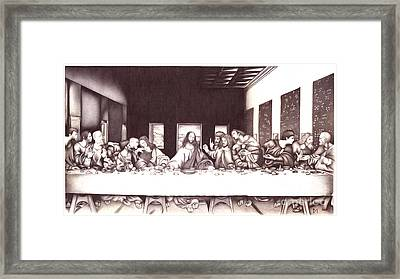 The Last Supper Framed Print by Sasha Antal
