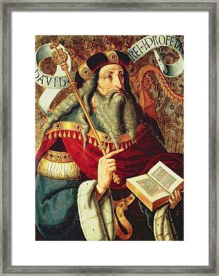 The Prophet David Framed Print by Master of Riofrio