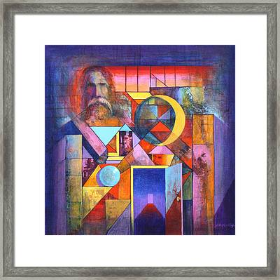 The Pythagoras Door Framed Print by J W Kelly