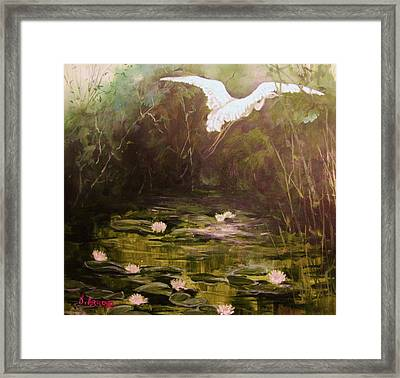 The  Secret  Place Framed Print by Beth Arroyo