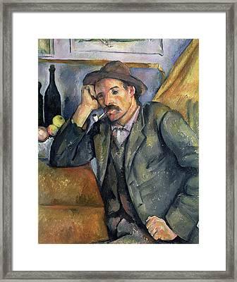 The Smoker Framed Print by Paul Cezanne