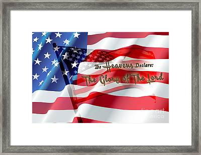The Stars And Stripes Framed Print by Beverly Guilliams