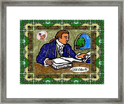 Thoughts Of Love In 1700s Puerto Rico Framed Print by Cibeles Gonzalez