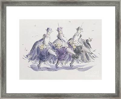 Three Kings Dancing A Jig Framed Print by Joanna Logan
