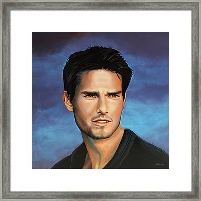 Tom Cruise Framed Print by Paul Meijering