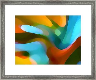 Tree Light 1 Framed Print by Amy Vangsgard