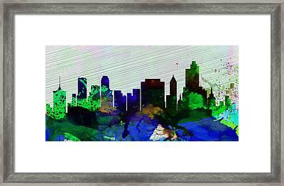 Tulsa City Skyline Framed Print by Naxart Studio