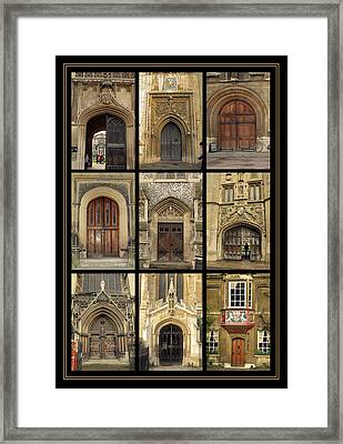 Uk Doors Framed Print by Christo Christov