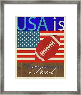 Usa Is American Football Framed Print by Joost Hogervorst