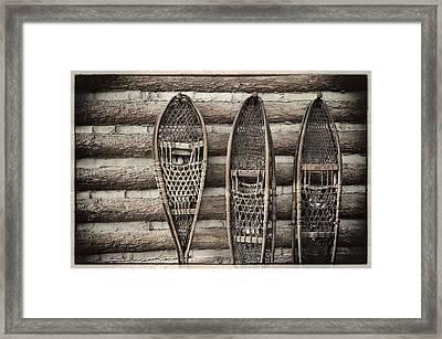 Vintage Snow Shoes Framed Print by Carter Jones