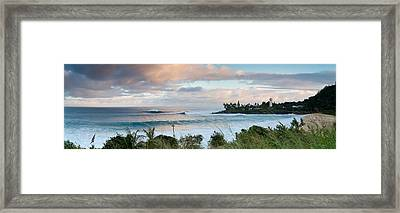 Waimea Rumble Framed Print by Sean Davey