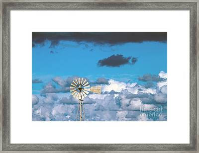 Water Windmill Framed Print by Stelios Kleanthous