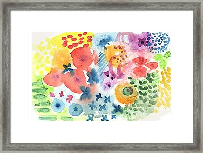 Watercolor Garden Framed Print by Linda Woods