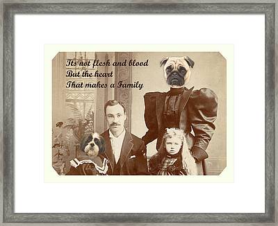 We Are Family Framed Print by Terry Fleckney