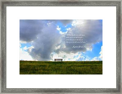 What Light Is To The Eyes... Framed Print by Julia Fine Art And Photography