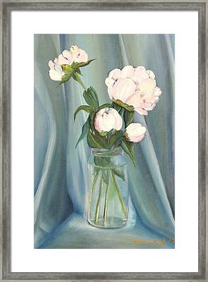 White Flower Purity Framed Print by Misuk Jenkins