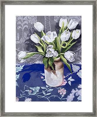White Tulips Framed Print by Cristiana Angelini