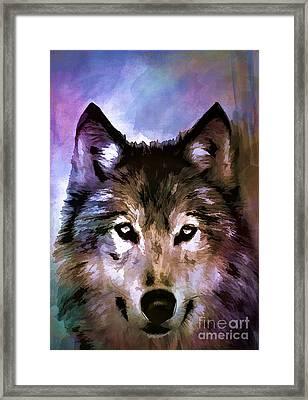 Wolf Framed Print by Andrzej Szczerski