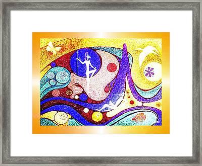 Yellow  Dreamworld Framed Print by Hartmut Jager