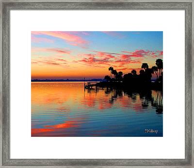 Sunrise Sunset River Photo Framed Print by W Gilroy